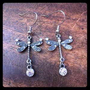 Jewelry - 💖✨Rhinestone Dragonfly Earrings✨💖